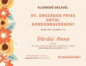 XV. országos Friss Antal gordonkaverseny-D.A.